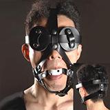 SM馬具型眼罩+口塞 (男女通用)