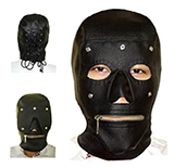 SM頭套 + 眼罩 + 拉鏈嘴