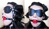 SM馬具型眼罩口塞 (黑)