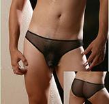 男士性感透明三角內褲 (紅)