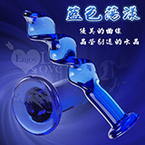 藍色蕩漾‧深度螺旋水晶玻璃棒
