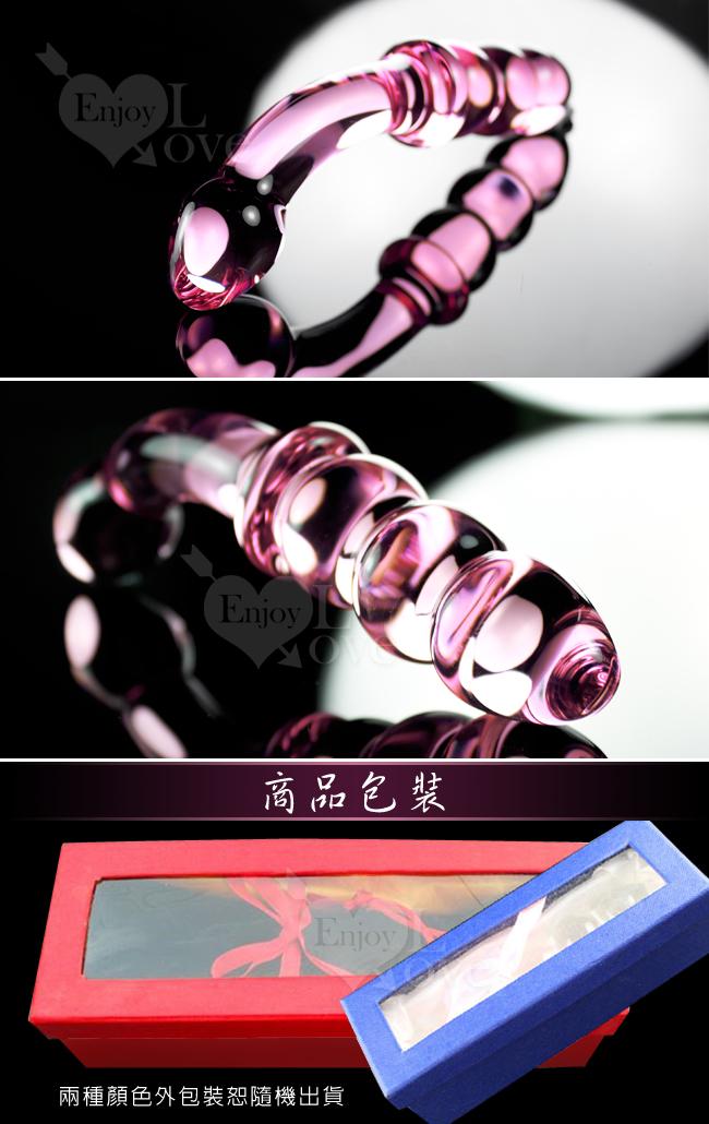 冰晶粉瑩玻璃棒 (雙頭構造)